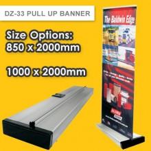 DZ-33 PREMIUM PULL UP BANNER