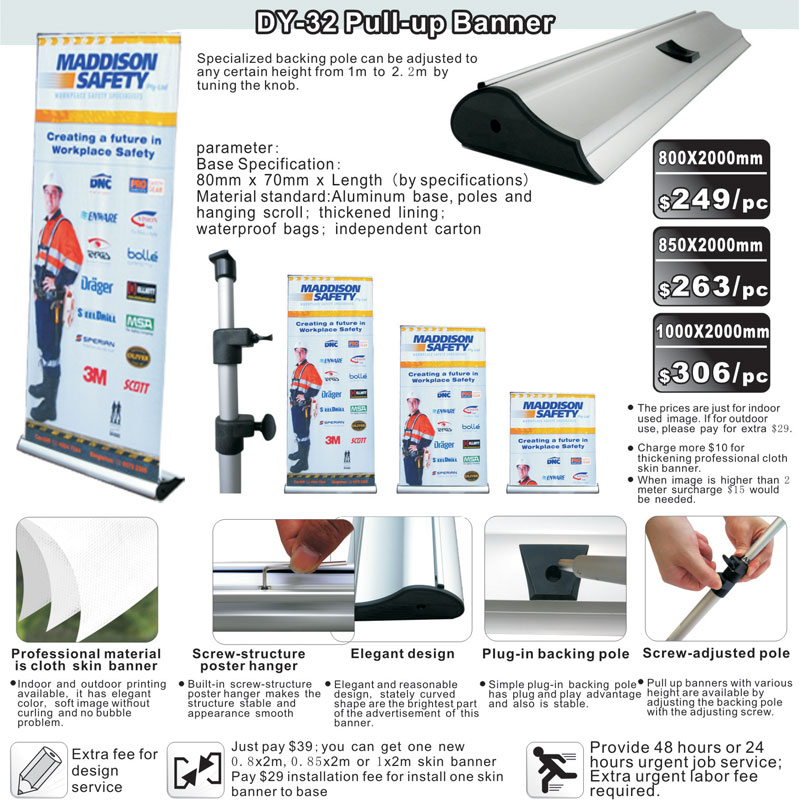 DY-32 DELUXE PULL UP BANNER