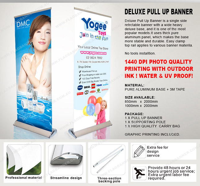 Deluxe Pull Up Banner