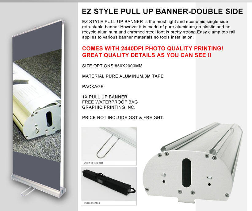 Pull up Banner Double Side
